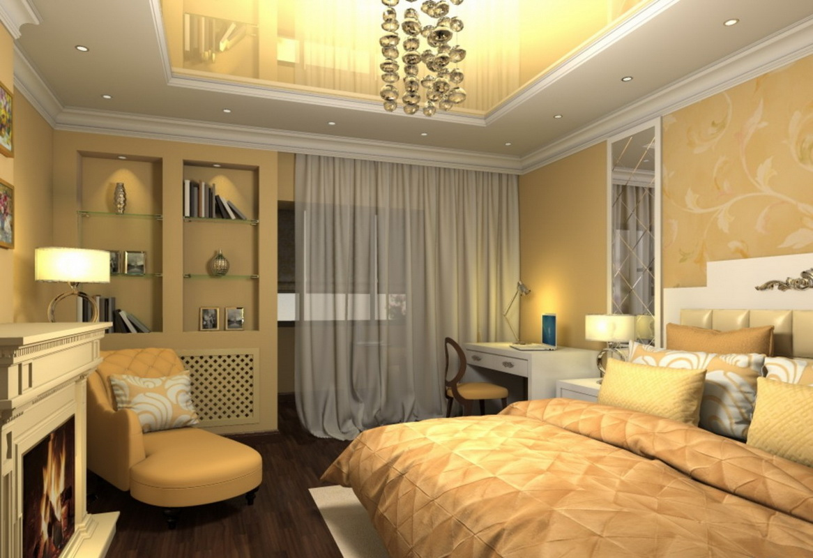 Дизайн спальни, совмещенной с лоджией + фото.