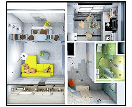 Плaнирoвкa однокомнатной квартиры