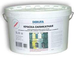 Силикатная краска - Краска Derufa