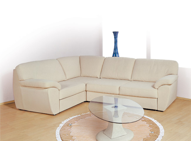 Угловой диван - Белый угловой диван