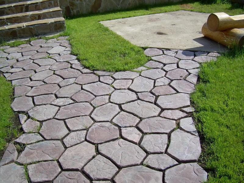 Пятигранная тротуарная плитка