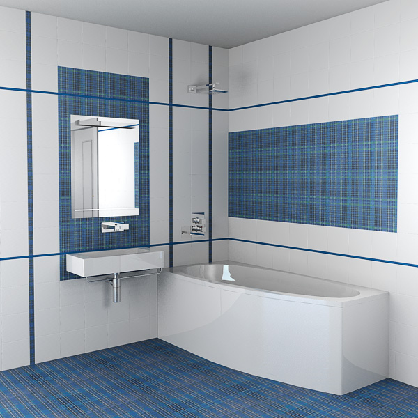 Для ванной комнаты характерна минимальная толщина швов