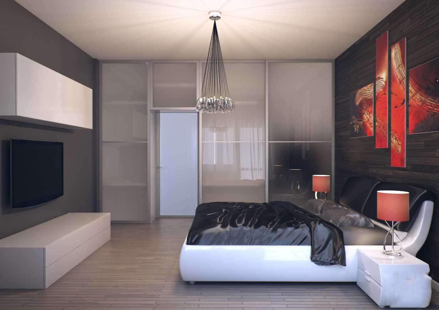 Маленькая спальня в стиле хай тек