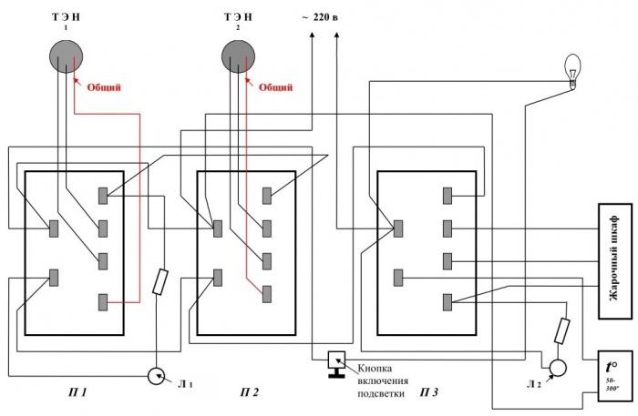 для фото схема конфорка электроплиты подключения