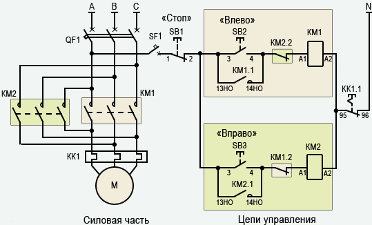 Как подключить тепловое реле к двигателю