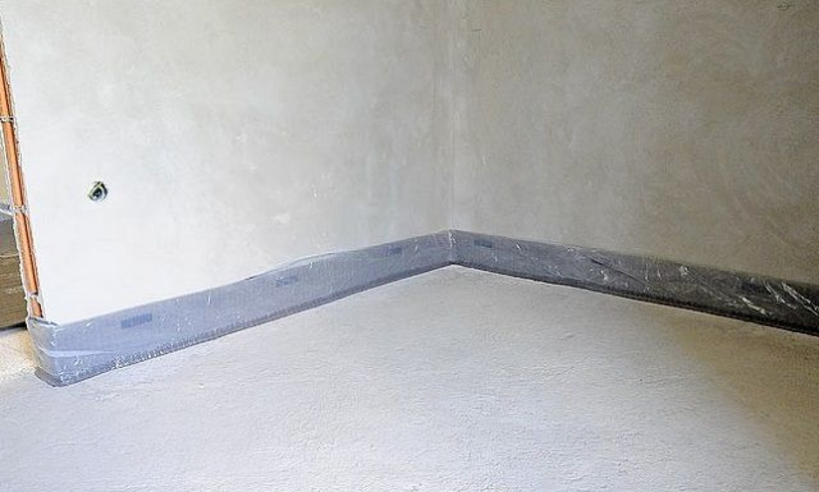 Плинтус напольный широкий