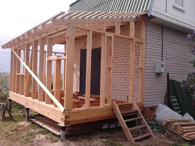 Проекты террас пристроенных к дому