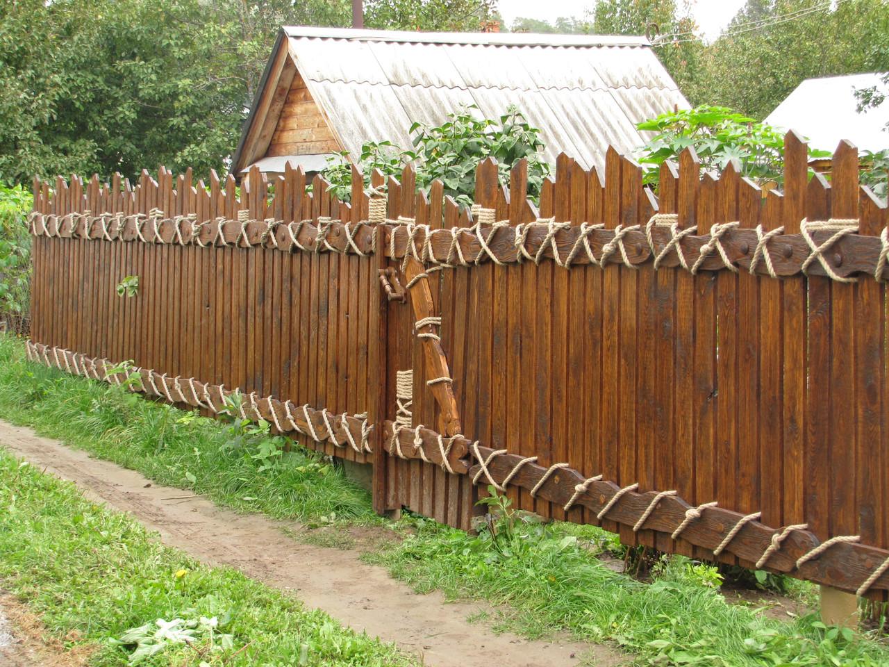 Декоративные заборы из дерева своими руками фото
