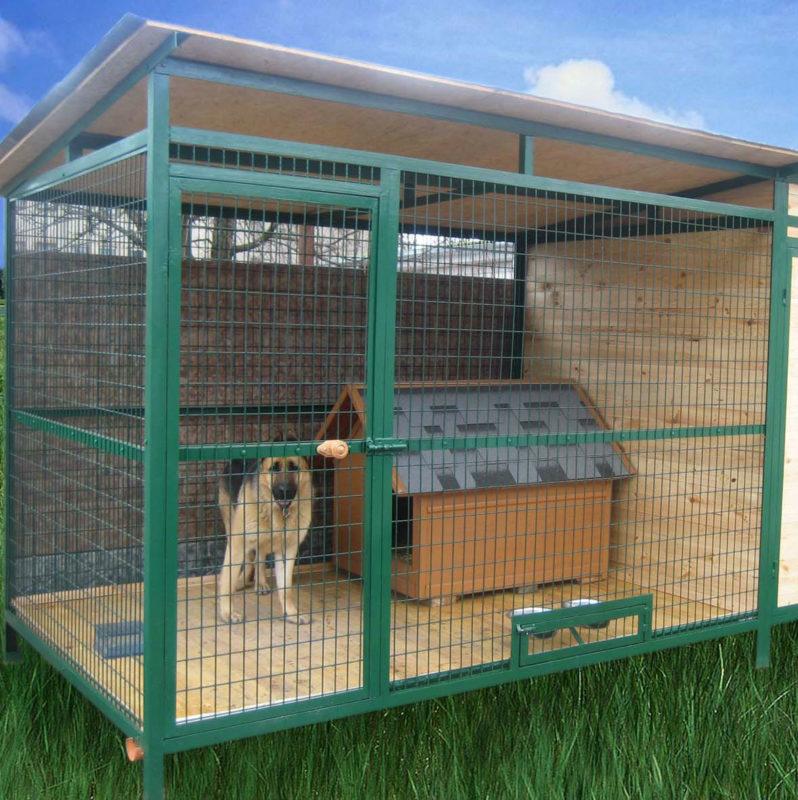 Вольер для собаки своими руками: фото инструкции и чертежи, видео
