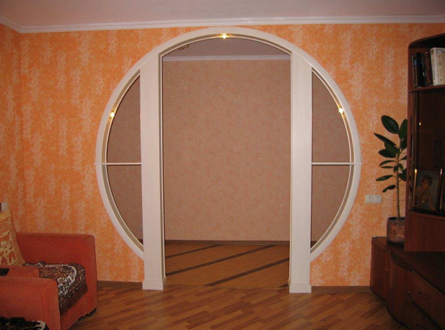 Арка в дверном проеме + фото
