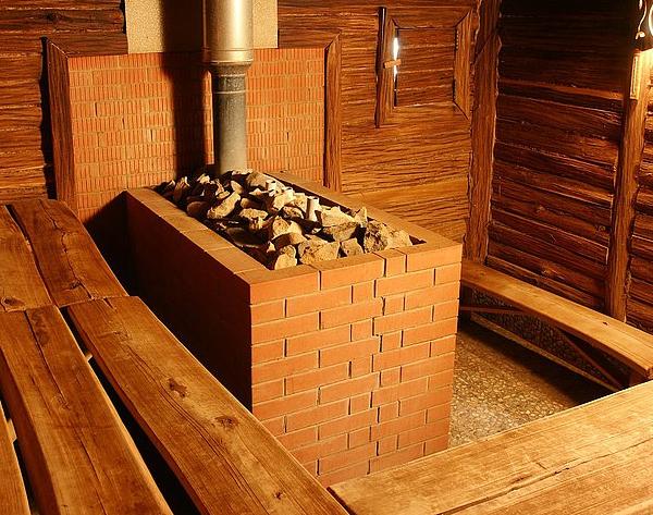 Обкладка печи в бане кирпичом своими руками