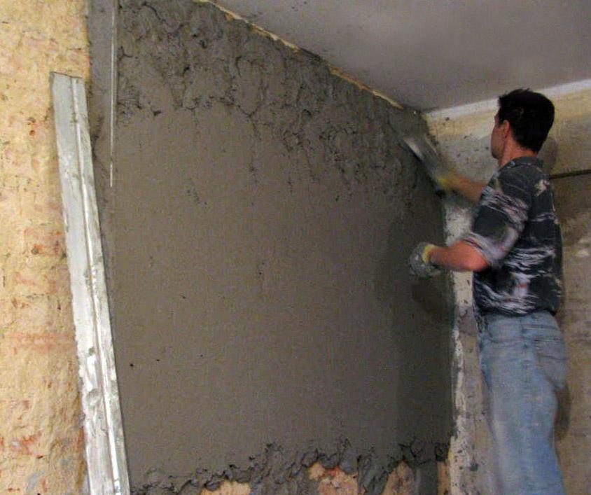 цементный раствор для черновой штукатурки