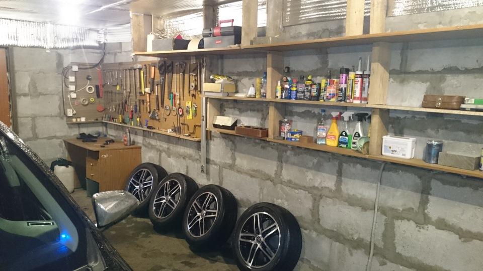 Как сделать полки в гараже своими руками, варианты, фото