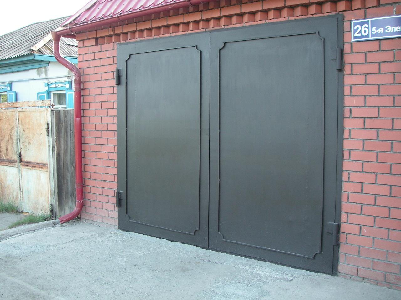 Металлические ворота для гаража распашные гараж быстро и недорого