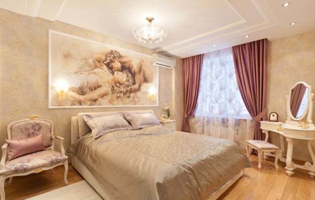 Спальня в стиле барокко + фото
