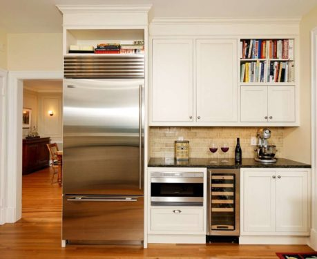 Интерьер кухни 6 метров с холодильником