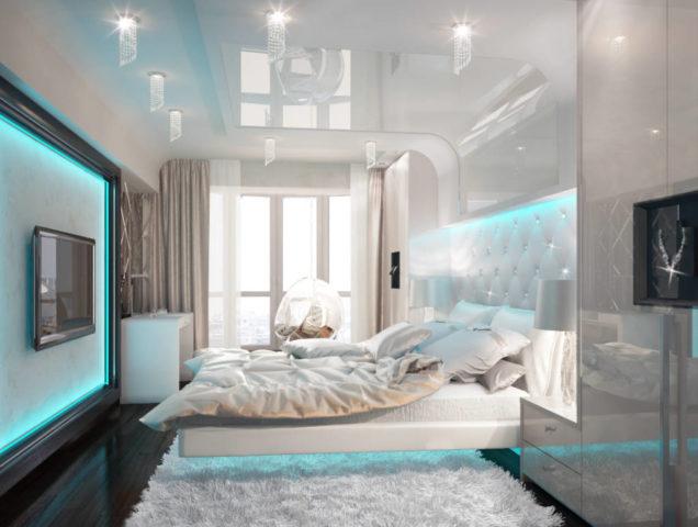 Спальня в светлых тонах + фото