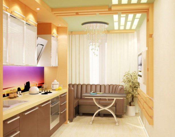 Дизайн кухни с балконом
