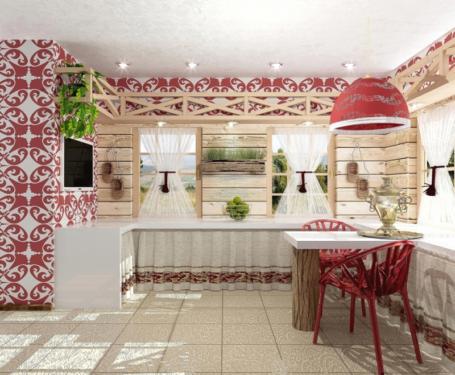 Кухня в украинском стиле + фото