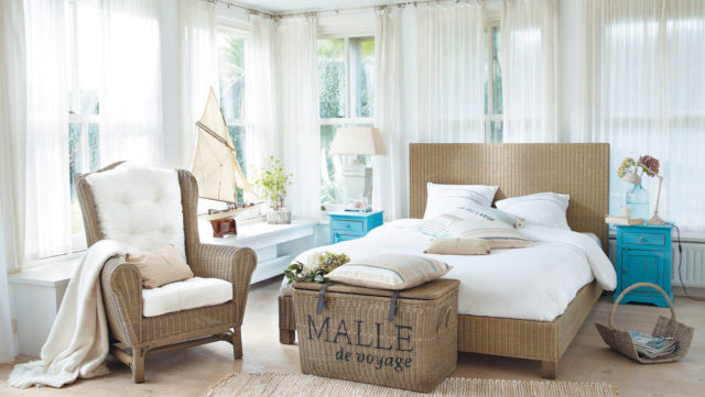 Спальня в морском стиле + фото