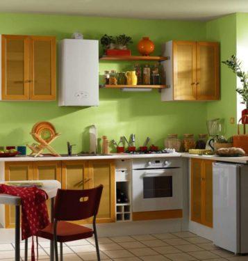 Кухни с газовым котлом