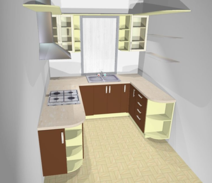 Как выбрать кухонный гарнитур угловой
