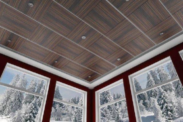 Потолок из пластиковых панелей на кухне + фото