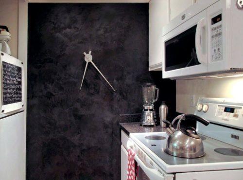 Декоративная штукатурка на кухне