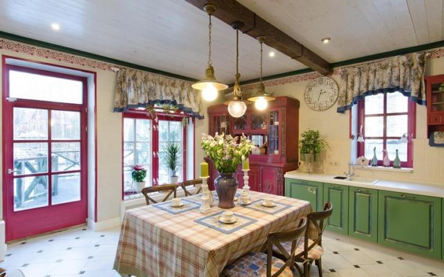 Шторы в кухню-гостиную