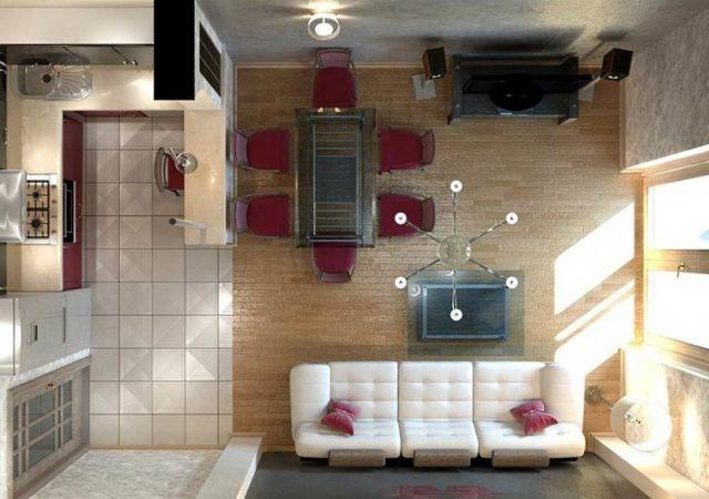маленькая кухня студия 12 кв м 14 кв м дизайн интерьера
