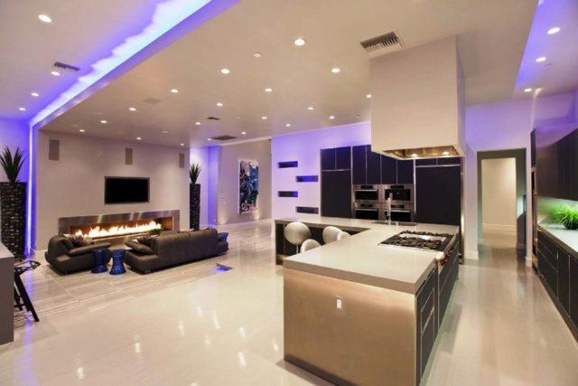 Потолок в кухне - студии