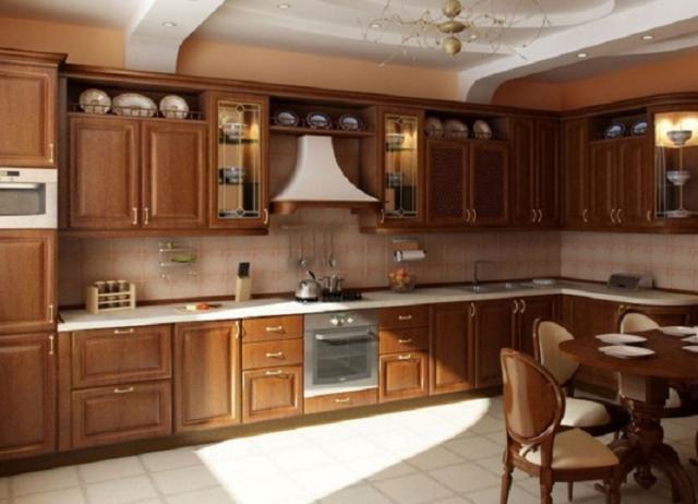 интерьер кухни в частном доме маленькой большой проходной