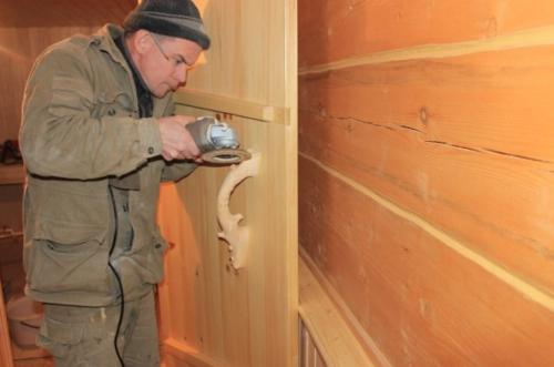 ручка для бани деревянная своими руками