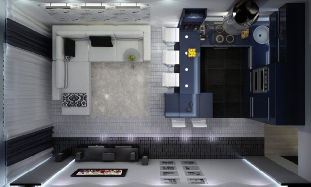 Кухня-гостиная 16 кв. м: дизайн, фото