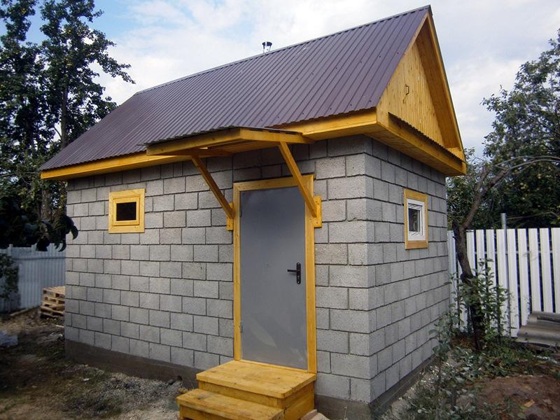 Строительство бани из газобетона - Всё о бане