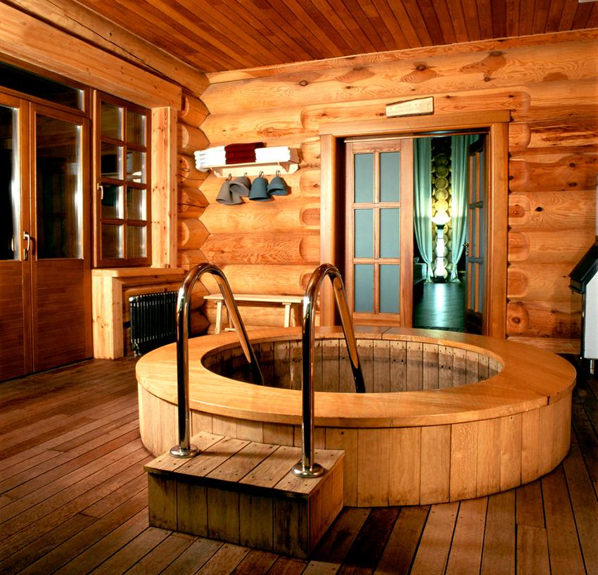Построить банный комплекс с бассейном