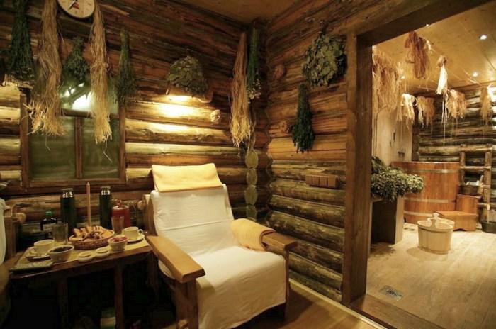 Предбанник в бане: вентиляция, утепление, отделка, интерьер