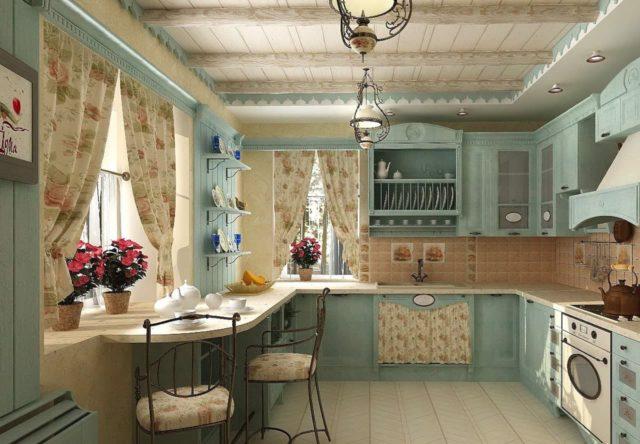 Кухня с окном в рабочей зоне