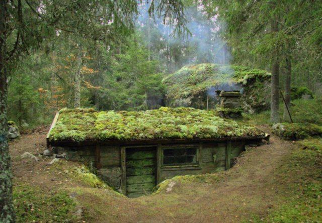 Баня под землей, из сарая, кунга своими руками