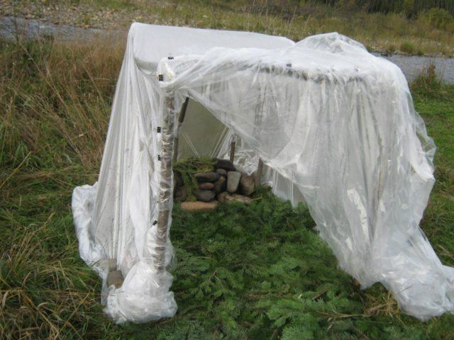 Баня-палатка