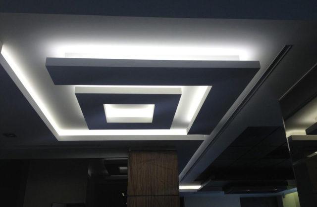 Бетонный потолок - заливка и отделка