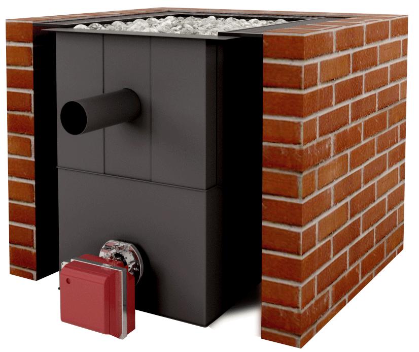 Установка газовой горелки в банную печь