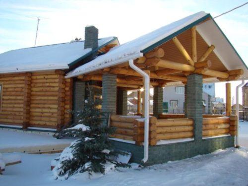 Баня, совмещенная с летней кухней