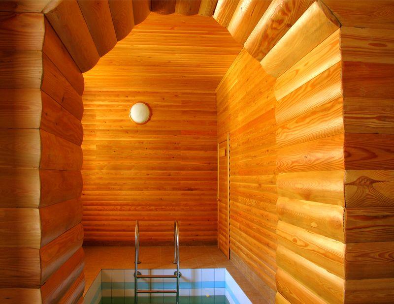 Как осуществить отделку бани блок-хаусом