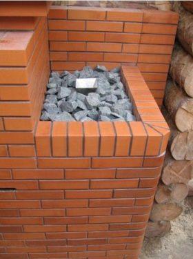 Закрытая каменка для бани