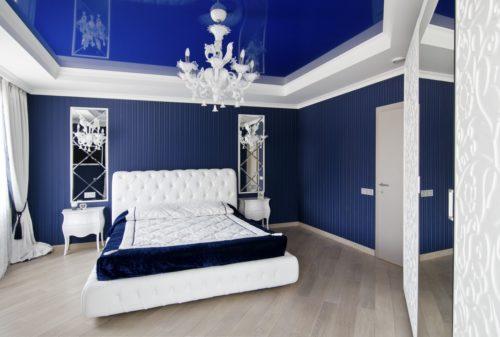 Натяжные потолки бирюзового цвета