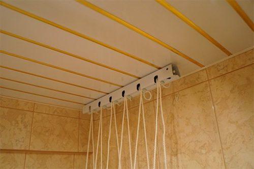 Как собрать потолочную сушилку для белья