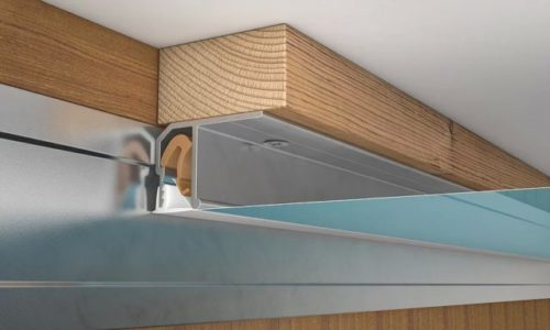 Как крепить багет для натяжных потолков