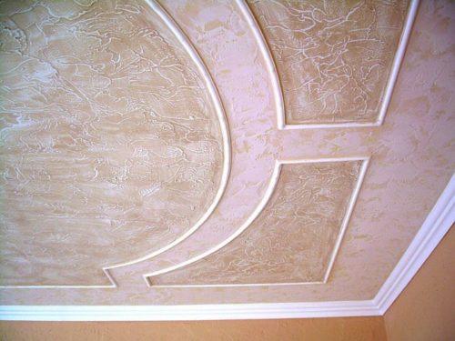 Декоративная штукатурка на потолке: фото
