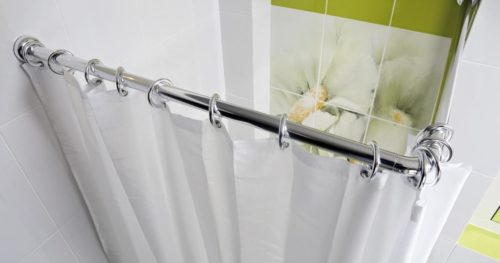 Карниз для шторы в ванную комнату